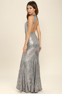 Your Luxe Day Pewter Sequin Maxi Dress 4