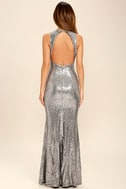 Your Luxe Day Pewter Sequin Maxi Dress 5