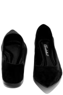Lucille Black Suede Pointed Flats 3
