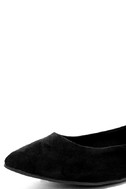 Lucille Black Suede Pointed Flats 6