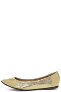 Lucille Gold Pointed Flats 2