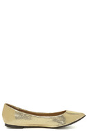 Lucille Gold Pointed Flats 4