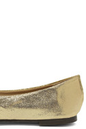Lucille Gold Pointed Flats 7