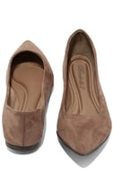 Lucille Taupe Suede Pointed Flats 3