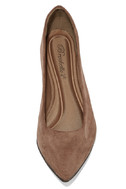 Lucille Taupe Suede Pointed Flats 5