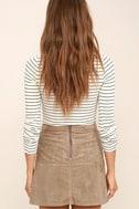 Rhythm Runaway Taupe Suede Mini Skirt 3