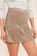 Rhythm Runaway Taupe Suede Mini Skirt 5