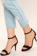 Lover Black Suede Ankle Strap Heels 2