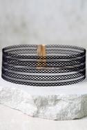 Ribbon Dancer Black Choker Necklace 2