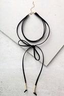 Alchemy Gold and Black Layered Choker Necklace 2