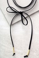 Alchemy Gold and Black Layered Choker Necklace 3