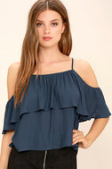 Exquisite Beauty Washed Blue Top 1