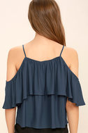 Exquisite Beauty Washed Blue Top 4