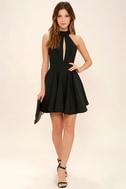 Smile Sweetly Black Skater Dress 2