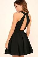Smile Sweetly Black Skater Dress 3