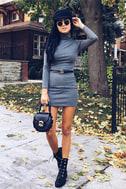 Phenomenal Feeling Grey Long Sleeve Bodycon Dress 7