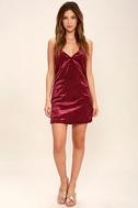 Totally Obsessed Burgundy Velvet Slip Dress 2