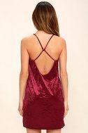 Totally Obsessed Burgundy Velvet Slip Dress 4