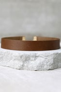 Vanessa Mooney Adeline Brown Leather Choker Necklace 2