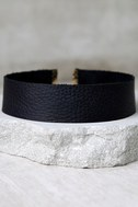 Vanessa Mooney Lucy Black Leather Choker Necklace 2