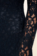 Sentimental Moment Navy Blue Lace Maxi Dress 6