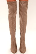 Steve Madden Emotions Taupe Suede Over the Knee Boots 2