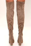 Steve Madden Emotions Taupe Suede Over the Knee Boots 4
