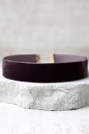One Moment in Time Plum Purple Velvet Choker Necklace 1