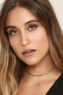 Just Believe Gold Chain Choker Necklace 2