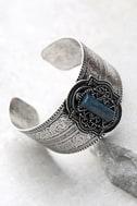 Enchanted Kingdom Blue and Silver Cuff Bracelet 2