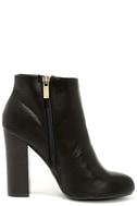 Molly Black High Heel Ankle Booties 4