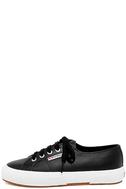 Superga 2750 FGLU Black Leather Sneakers 2