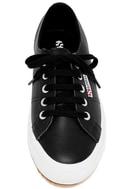 Superga 2750 FGLU Black Leather Sneakers 5