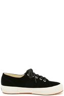 Superga 2750 VELVTW Black Velvet Sneakers 4