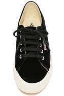 Superga 2750 VELVTW Black Velvet Sneakers 5