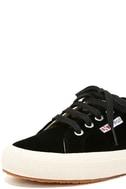 Superga 2750 VELVTW Black Velvet Sneakers 6