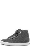 Superga 2224 POLYWOOLW Grey High-Top Sneakers 2