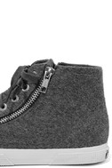 Superga 2224 POLYWOOLW Grey High-Top Sneakers 7