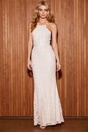 Zenith Cream Lace Maxi Dress 2