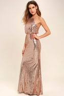 My Muse Rose Gold Sequin Maxi Dress 2
