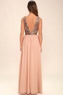 Elegant Encounter Rose Gold Sequin Maxi Dress 4