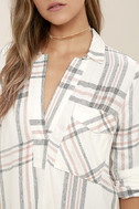 Chic Thrills Ivory Plaid Tunic Top 5