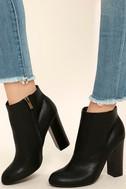 Molly Black High Heel Ankle Booties 1