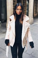 J.O.A. We Go Together Blush Pink Sherpa Coat 8