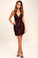 Dress the Population Jordyn Burgundy Lace Sequin Dress 2