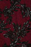 Dress the Population Jordyn Burgundy Lace Sequin Dress 6