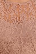 BB Dakota Thessaly Mauve Lace Dress 6