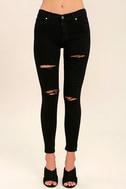 Aline Black Distressed Skinny Jeans 2