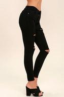 Aline Black Distressed Skinny Jeans 3
