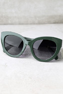 Perverse Dahlia Dark Green Cat-Eye Sunglasses 3